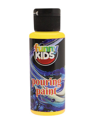Funny Kids Pouring Paint, Hazır Akrilik Boyalar - 70 cc - Thumbnail