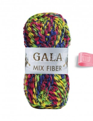 - Gala Mıx Fiber El Örgü İplikleri - 3 - 100 gr