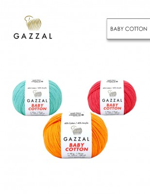 GAZZAL - Gazzal Baby Cotton El Örgü İplikleri (1)