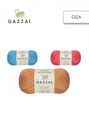 GAZZAL - Gazzal Giza Merserize El Örgü İplikleri - 50 Gr (1)