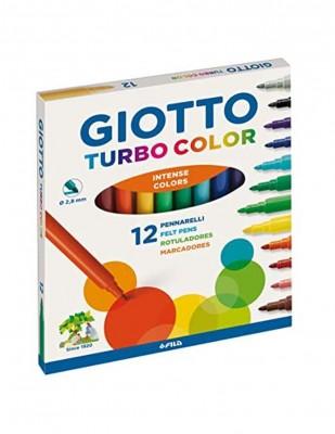 - Giotto Turbo Color Keçeli Kalem Seti - 12 Renk