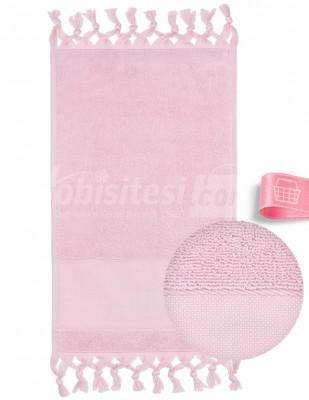 GLAMOUR - Glamour İşlemelik Havlular, Etaminli, Bağlamalı, Bukle - 30x50 cm (1)