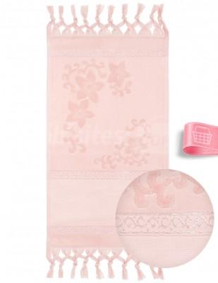 GLAMOUR - Glamour İşlemelik Havlular, Etaminli, Jakarlı, Bağlamalı, 30x50 cm