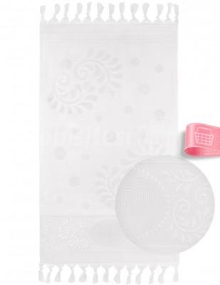 GLAMOUR - Glamour İşlemelik Havlular, Etaminli, Bağlamalı, Kadife, 50x90 cm