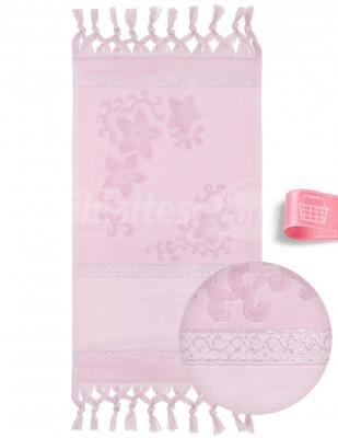 GLAMOUR - Glamour İşlemelik Havlular, Etaminli, Jakarlı, Bağlamalı - 50x90 cm