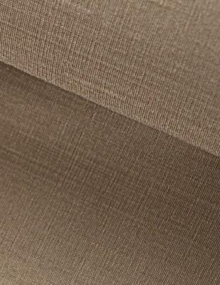 - Hint İpeği İşlemelik Kumaş - Kahverengi - En 150 cm