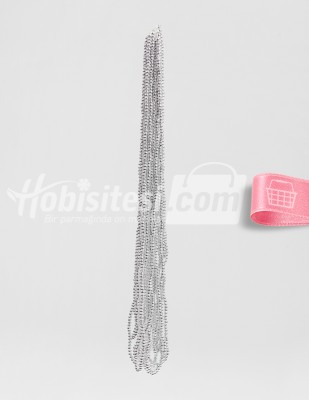 - İnci - No 4 - Gümüş - Çap 4 mm - 6 Dizi