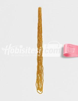 - İnci - No 5 - Altın - Çap 5 mm - 6 Dizi