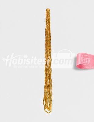 İnci - No 5 - Altın - Çap 5 mm - 6 Dizi