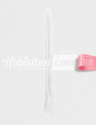 - İnci - No 5 - Beyaz - Çap 5 mm - 6 Dizi