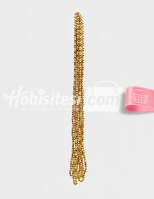 - İnci - No 6 - Altın - Çap 6 mm - 6 Dizi