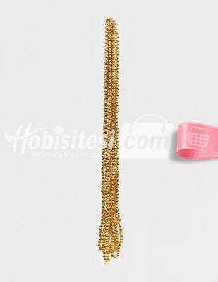 İnci - No 6 - Altın - Çap 6 mm - 6 Dizi