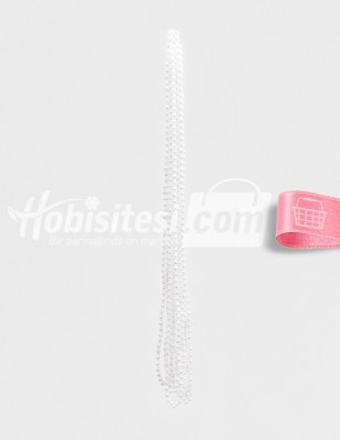- İnci - No 6 - Beyaz - Çap 6 mm - 6 Dizi