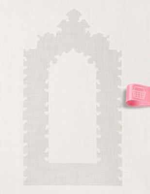 GLAMOUR - İşlemelik Hazır Seccade - 130 x 80 cm (1)