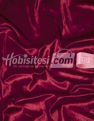 - Kadife Kumaş - Likralı - Kırmızı - En 150 cm