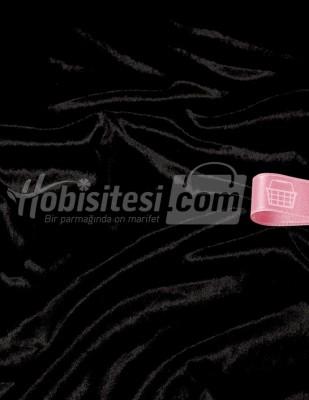 - Kadife Kumaş - Likralı - Siyah - En 150 cm