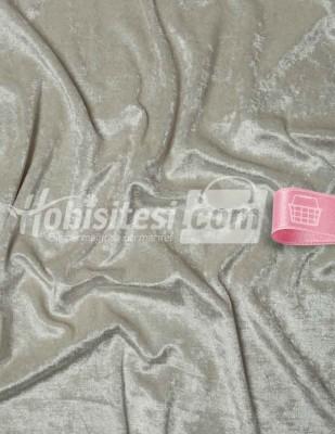 - Kadife Kumaş - Likralı - Taş Rengi - En 150 cm
