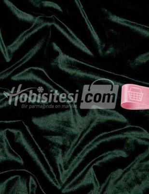 - Kadife Kumaş - Likralı - Zümrüt Yeşili - En 150 cm