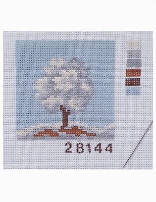 Kanaviçe Kiti, Mini Goblen - Baskılı Etamin, İplikler ve İğne - 8 x 8 cm - 28144