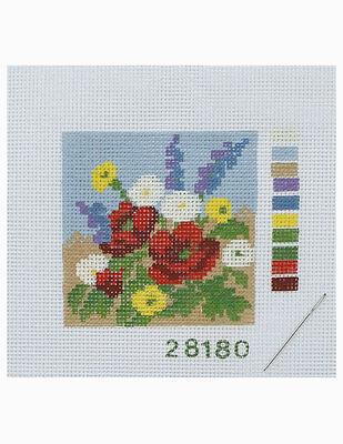 Kanaviçe Kiti, Mini Goblen - Baskılı Etamin, İplikler ve İğne - 8 x 8 cm - 28180