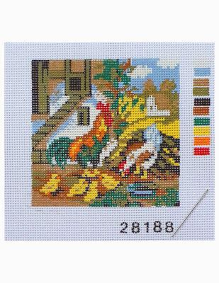 Kanaviçe Kiti, Mini Goblen - Baskılı Etamin, İplikler ve İğne - 8 x 8 cm - 28188