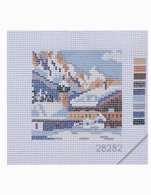 Kanaviçe Kiti, Mini Goblen - Baskılı Etamin, İplikler ve İğne - 8 x 8 cm - 28282