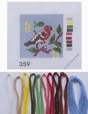 Kanaviçe Kiti, Mini Goblen - Baskılı Etamin, İplikler ve İğne - 8 x 8 cm - 359