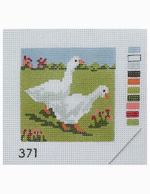 Kanaviçe Kiti, Mini Goblen - Baskılı Etamin, İplikler ve İğne - 8 x 8 cm - 371