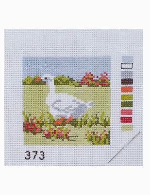 Kanaviçe Kiti, Mini Goblen - Baskılı Etamin, İplikler ve İğne - 8 x 8 cm - 373