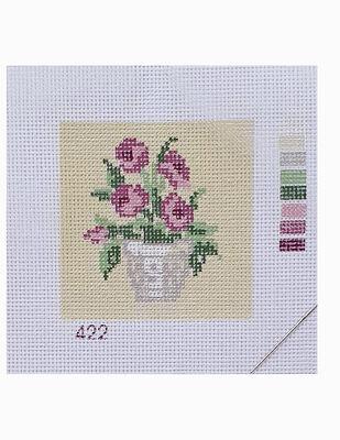 Kanaviçe Kiti, Mini Goblen - Baskılı Etamin, İplikler ve İğne - 8 x 8 cm - 422