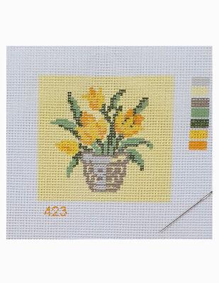 Kanaviçe Kiti, Mini Goblen - Baskılı Etamin, İplikler ve İğne - 8 x 8 cm - 423