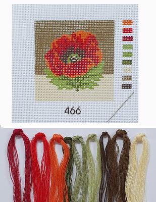 Kanaviçe Kiti, Mini Goblen - Baskılı Etamin, İplikler ve İğne - 8 x 8 cm - 466