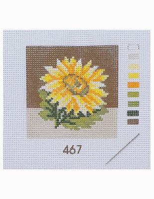 Kanaviçe Kiti, Mini Goblen - Baskılı Etamin, İplikler ve İğne - 8 x 8 cm - 467