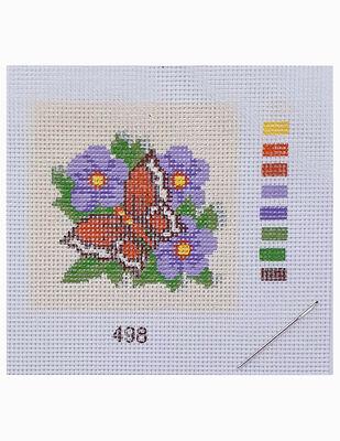 Kanaviçe Kiti, Mini Goblen - Baskılı Etamin, İplikler ve İğne - 8 x 8 cm - 498