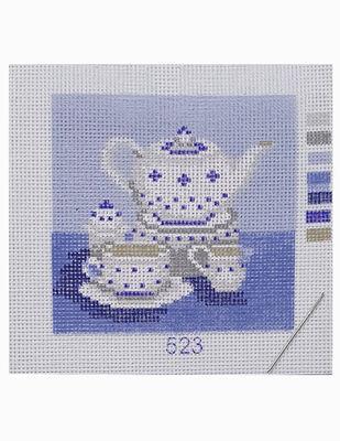 Kanaviçe Kiti, Mini Goblen - Baskılı Etamin, İplikler ve İğne - 8 x 8 cm - 523
