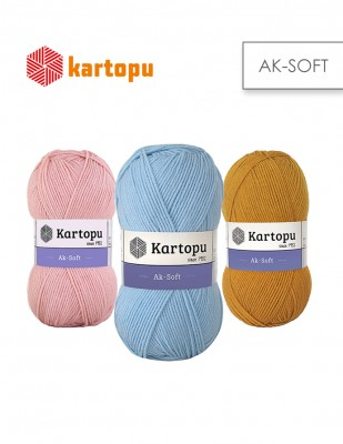 KARTOPU - Kartopu Ak Soft El Örgü İplikleri