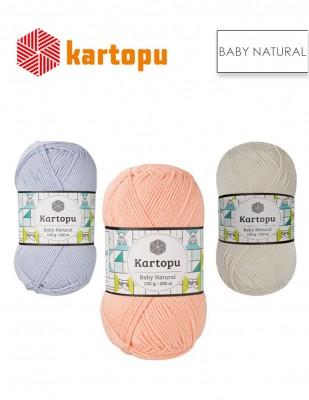 KARTOPU - Kartopu Baby Natural El Örgü İplikleri