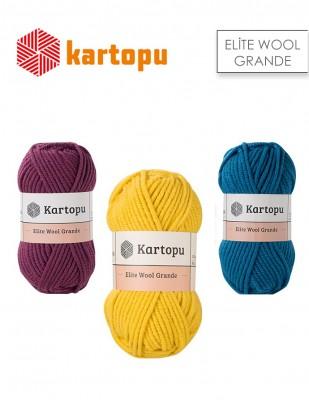 KARTOPU - Kartopu Elite Wool Grande El Örgü İplikleri