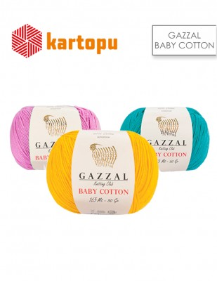 KARTOPU - Kartopu Gazzal Baby Cotton XL El Örgü İplikleri