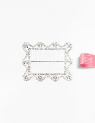- Kemer Tokası - Taşlı - Dikdörtgen - 6 x 7,5 cm