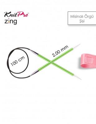 - KnitPro Zing Misinalı Örgü Şişi - 100 cm - 2 Numara
