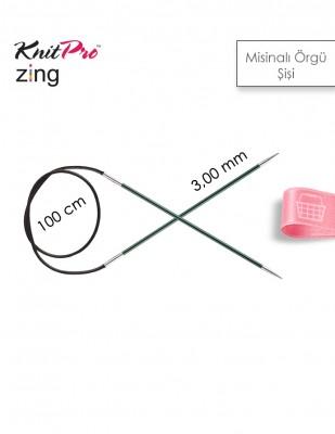 KNITPRO - KnitPro Zing Misinalı Örgü Şişi - 100 cm - 3 mm