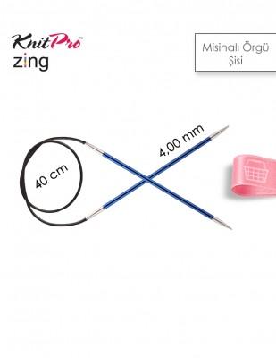 KNITPRO - KnitPro Zing Misinalı Örgü Şişi - 40 cm - 4 mm