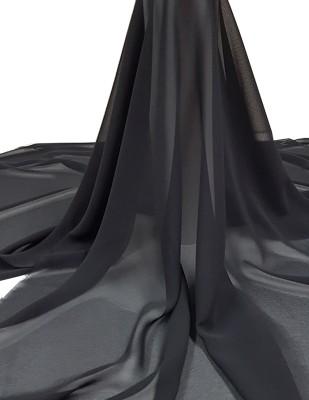 - Krep Şifon Kumaş - En 150 cm - Siyah