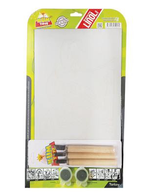 - Kum Toys Linol Baskı Seti, Kuş ve Yavruları Baskılı - 6 Parça / Set