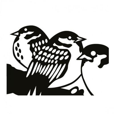 - Kum Toys Linol Baskı Seti, Kuş ve Yavruları Baskılı - 6 Parça / Set (1)