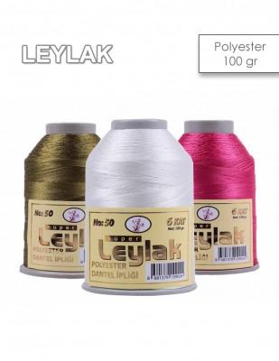 LEYLAK - Leylak Polyester Dantel İplikleri - 6 Katlı - 100 Gr