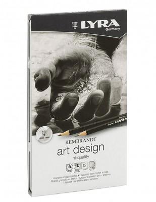 LYRA - Lyra Rembrandt Art Designe, Graphite Pencils Kalem - 12 Adet