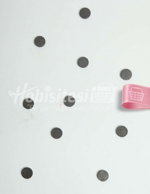 - Magnet / Mıknatıs - Siyah - Ç: 18 mm - 10 Adet