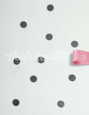 - Magnet / Mıknatıs - Siyah - Ç: 15 mm - 10 Adet